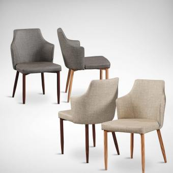 Corine Halved-Arm Chair